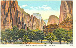 Temple Sinawava Zion National Park UT Postcard p18219 (Image1)