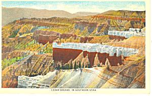 Cedar Breaks in Southern UT Postcard p18221 1943 (Image1)