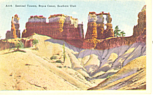 Sentinel Towers Bryce Canyon National Park UT Postcard p18225 (Image1)
