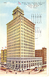 Walker Bank Bldg,Salt Lake City,UT Postcard 1924 (Image1)