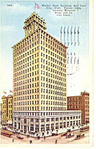 Walker Bank Bldg Salt Lake City UT Postcard p18229 1924 (Image1)