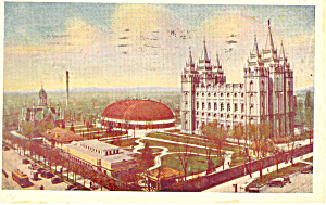 Temple Square Salt Lake City UT Postcard p18230 1931 (Image1)
