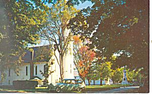 First Congregational Church Manchester  VT Postcard p18242 (Image1)