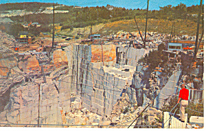 Rock of Ages Quarry, Barre, VT Postcard 1961 (Image1)