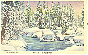 Winter Time in, Vermont Postcard (Image1)