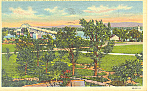 New Lake Champlain Bridge, Vermont Postcard 1947 (Image1)