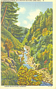 Clarendon Gorge, Long Trail, VT Postcard 1943 (Image1)