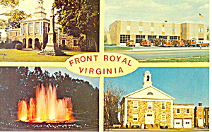 Front Royal Va Four Views Postcard P18284
