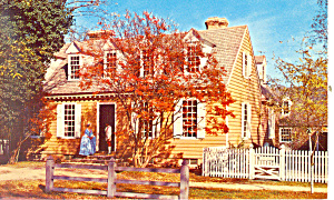 Brush-Everard House Williamsburg VA Postcard (Image1)