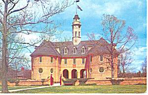 The Capitol, Willamsburg,VA Postcard 1962 (Image1)