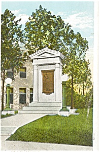 Bardstown KY John  Fitch Memorial Postcard (Image1)