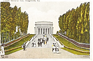 Hodgenville Ky Lincoln Memorial Postcard P1833