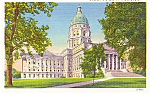 Topeka KS State Capitol Postcard (Image1)