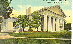 Arlington Mansion, Arlington,VA Postcard (Image1)