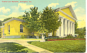 Custis Lee Mansion, Arlington,VA Postcard (Image1)