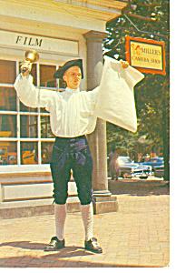 Town Crier, Willamsburg,VA Postcard 1958 (Image1)