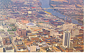 Aerial View of Nashville, TN Postcard (Image1)