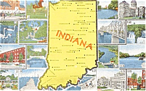 Indiana State Map Postcard (Image1)