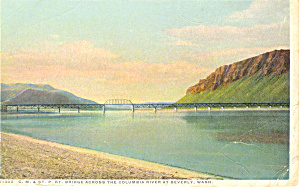 Bridge Across Columbia River,WA Postcard (Image1)