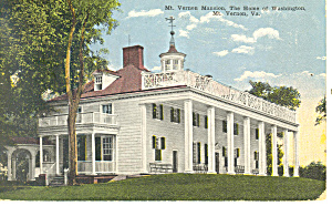 Mount Vernon Mansion Va Postcard P18426 1916