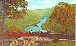 Hawk Nest State Park Amsted, Wv Postcard