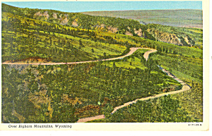 Switchback Highway US 14 WY Postcard 1950 (Image1)