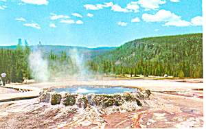 Punch Bowl Yellowstone National Park WY Postcard p18447 (Image1)