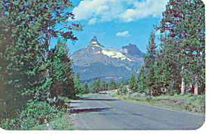 Pilot and Index Peaks WY Postcard p18456 (Image1)