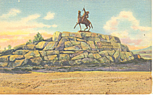 Buffalo Bill Monument Cody WY Postcard p18470 (Image1)