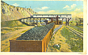 Coal Mining Rock Springs WY Postcard p18471 (Image1)
