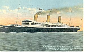 SS Vaterland Hamburg American Line Postcard p18477 (Image1)