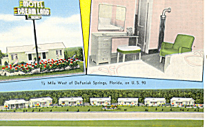 Dreamland Motel, Funiak Springs, FL Postcard (Image1)