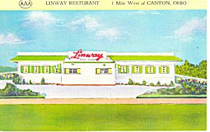 Linway Restaurant Canton OH Postcard p18506 (Image1)