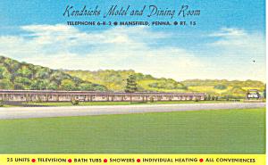 Kendricks Motel, Mansfield, PA Postcard (Image1)