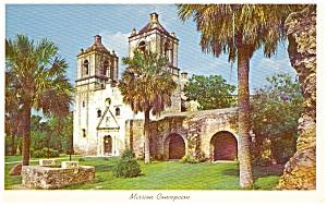 San Antonio TX Mission Concepcion Postcard (Image1)