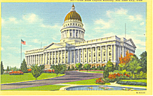 State Capitol Salt Lake City Ut Postcard P18520