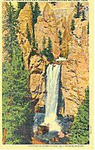 Tower Fall Yellowstone National Park WY Postcard p18530 (Image1)