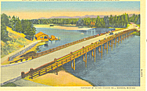 Fishing Bridge Yellowstone National Park WY Postcard p18531 (Image1)
