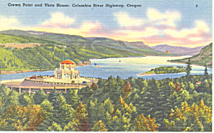 Crown Point Columbia River Highway Or Postcard P18532