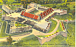 Aerial View of Fort Ticonderoga NY Postcard p18533 (Image1)
