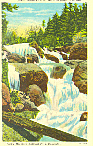Horseshoe Falls Estes Park Co Postcard P18535