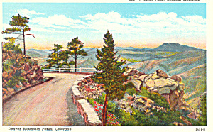 Wildcat Point Lookout Mountain Co Postcard P18536