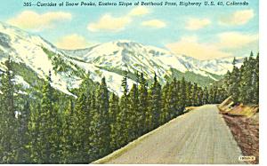 Corridor of Snow Peaks Berthoud Pass CO Postcard p18538 (Image1)