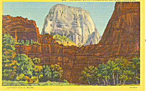 Great White Throne Zion National Park Ut Postcard P18539