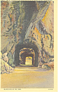 Tunnels Mt Rushmore, Black Hills, SD Postcard (Image1)