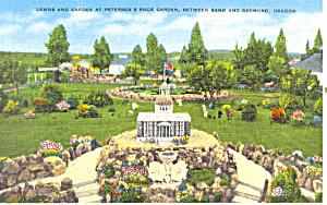 Petersen s Rock Garden Bend OR  Postcard p18564 (Image1)