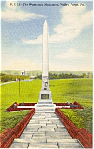Valley Forge PA Waterman Monument Postcard (Image1)