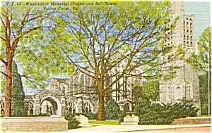 Valley Forge PA Washington Chapel Postcard (Image1)