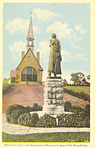 Memorial Church Grand Pre Nova Scotia Canada Postcard P18581