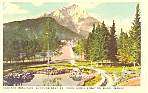 Cascade Mountain Banff National Park, Canada Postcard (Image1)